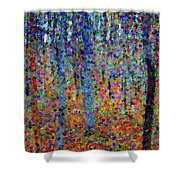 Beech Grove Abstract Expressionism Shower Curtain
