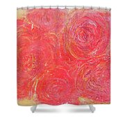 Beefy Roses Shower Curtain