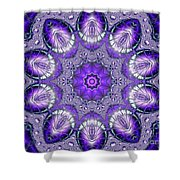Bejeweled Easter Eggs Fractal Abstract Shower Curtain by Rose Santuci-Sofranko