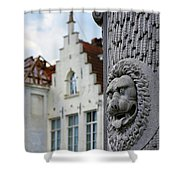 Belgian Coat Of Arms Shower Curtain by Nathan Bush