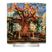 Bellagio Conservatory Enchanted Talking Tree Ultra Wide 2018 2.5 To 1 Aspect Ratio Shower Curtain