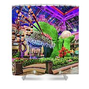 Bellagio Conservatory Spring Display Front Side View Wide 2018 2 To 1 Aspect Ratio Shower Curtain