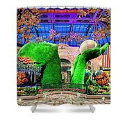 Bellagio Conservatory Spring Display Ultra Wide Trees 2018 2 To 1 Aspect Ratio Shower Curtain