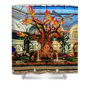Bellagio Enchanted Talking Tree Ultra Wide 2018 2 To 1 Aspect Ratio Shower Curtain