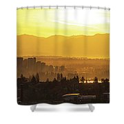 Bellevue Eastside Morning Light Atmosphere Shower Curtain