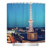 Berlin - Funkturm Shower Curtain
