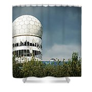 Berlin - Teufelsberg Listening Station Shower Curtain