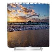Bermuda Beach Sunrise Shower Curtain