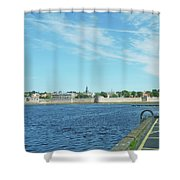 Berwick Upon Tweed, River And City Walls Shower Curtain