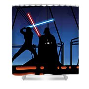 Bespin Duel Shower Curtain