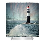 Beyond The Northern Waves Shower Curtain