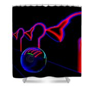Beyond The Red Door Shower Curtain by Paul Wear