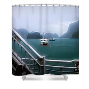 Bhaya Cruise Line Ha Long Bay  Shower Curtain
