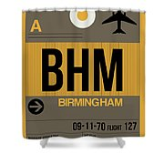 Bhm Birmingham Luggage Tag I Shower Curtain