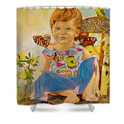 Bianka And Butterflies Shower Curtain