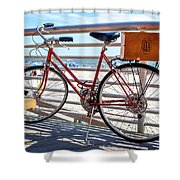 Bicycle At The Beach Shower Curtain