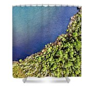 Big Bay Bear Lake Aerial Shower Curtain