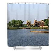 Big Chute Marine Railway, Trent Severn Waterway, Ontario Shower Curtain