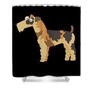 Big Fox Terrier Shower Curtain