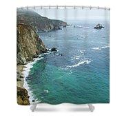 Big Sur Ocean Views Shower Curtain