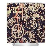 Bike Mountain Shower Curtain
