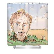 Billboard Man Shower Curtain