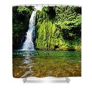 Bioko Waterfall Shower Curtain