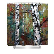 Birch Portrait I Shower Curtain