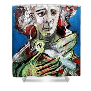Bird And Owner Shower Curtain