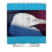 Bird Silhouette Design Shower Curtain