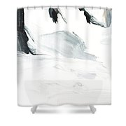 Black And White #2 Shower Curtain by Maria Langgle
