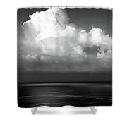 Black And White Clouds - Panorama Shower Curtain