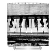 Black And White Piano Shower Curtain