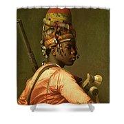 Black Bashi Bazouk 1868 69 Shower Curtain