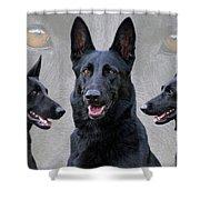 Black German Shepherd Dog Collage Shower Curtain
