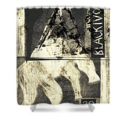 Black Ivory Horse On Hind Legs 1 Shower Curtain