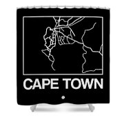 Black Map Of Cape Town Shower Curtain
