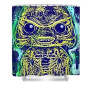 Creature From The Black Lagoon Pop Shower Curtain