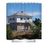 Blockhouse At Kingston Mills On The Rideau Canal Shower Curtain