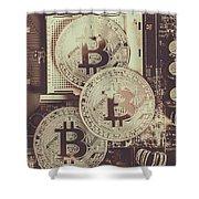 Blocks Of Bitcoin Shower Curtain