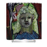 Blonde Girl Shower Curtain