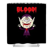 Blood Bloody Vampire Halloween Shower Curtain