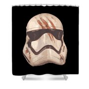 Bloody Helmet Shower Curtain