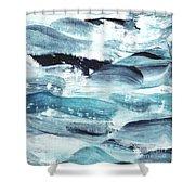 Blue #10 Shower Curtain