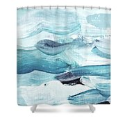 Blue #14 Shower Curtain