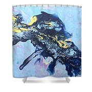 Blue Abstract #3 Shower Curtain