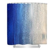 Blue And Silver Shower Curtain
