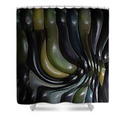 Blue And Yellow Maiz Shower Curtain