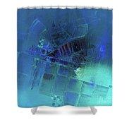 Blue Azure Shower Curtain