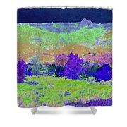 Blue Badlands Rhapsody Shower Curtain